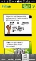 Screenshot of MANN-FILTER