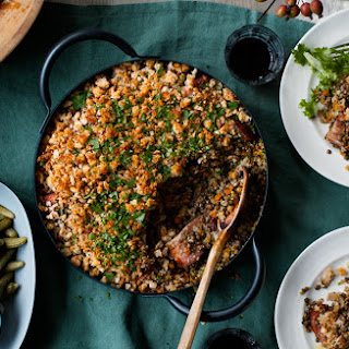 Lentil and Garlic Sausage Cassoulet