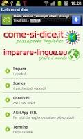 Screenshot of Come si dice
