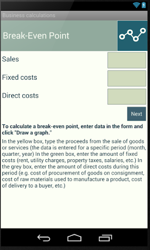 Business calculations