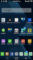 Screenshot of Theme Android Flat