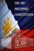 Screenshot of 1987 Philippine Constitution