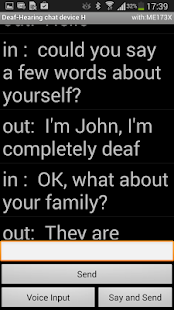 Deaf - Hearing chat device H- screenshot thumbnail