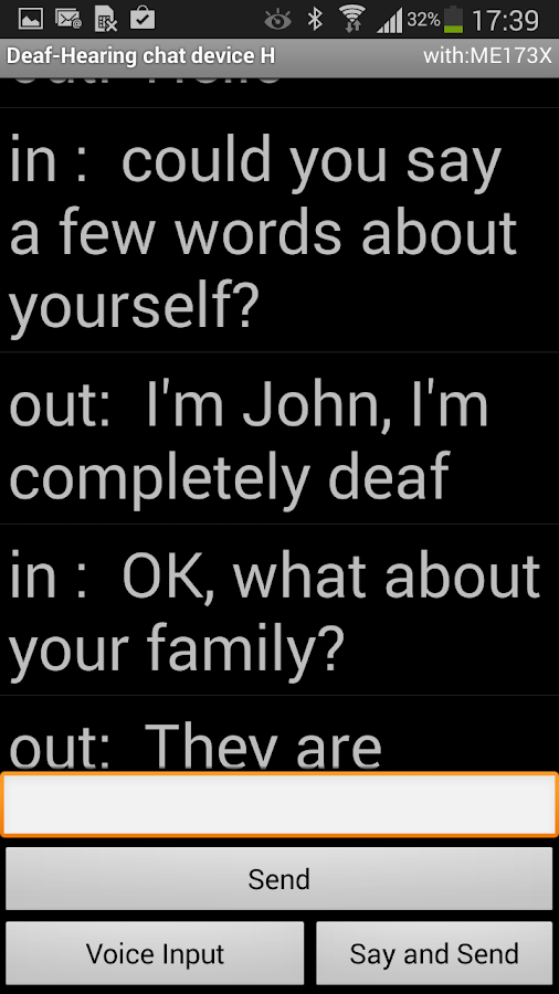 Deaf - Hearing chat device H- screenshot