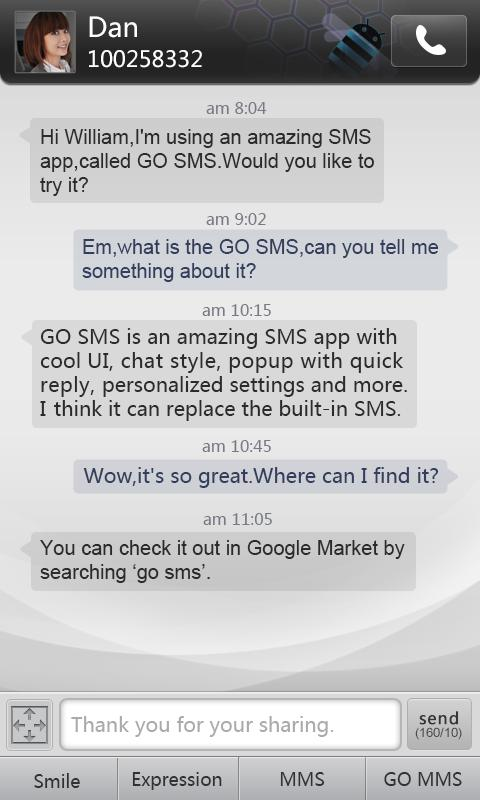 GO SMS Pro Dark Theme- screenshot
