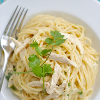 Chicken Spaghetti With White Sauce Recipes.