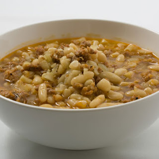 Pasta e Fagioli con Salsicce (Pasta and Beans with Sausage)