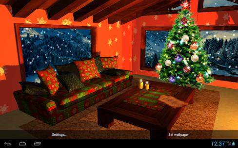 3D Christmas Fireplace Premium Wallpaper (Paid) 1