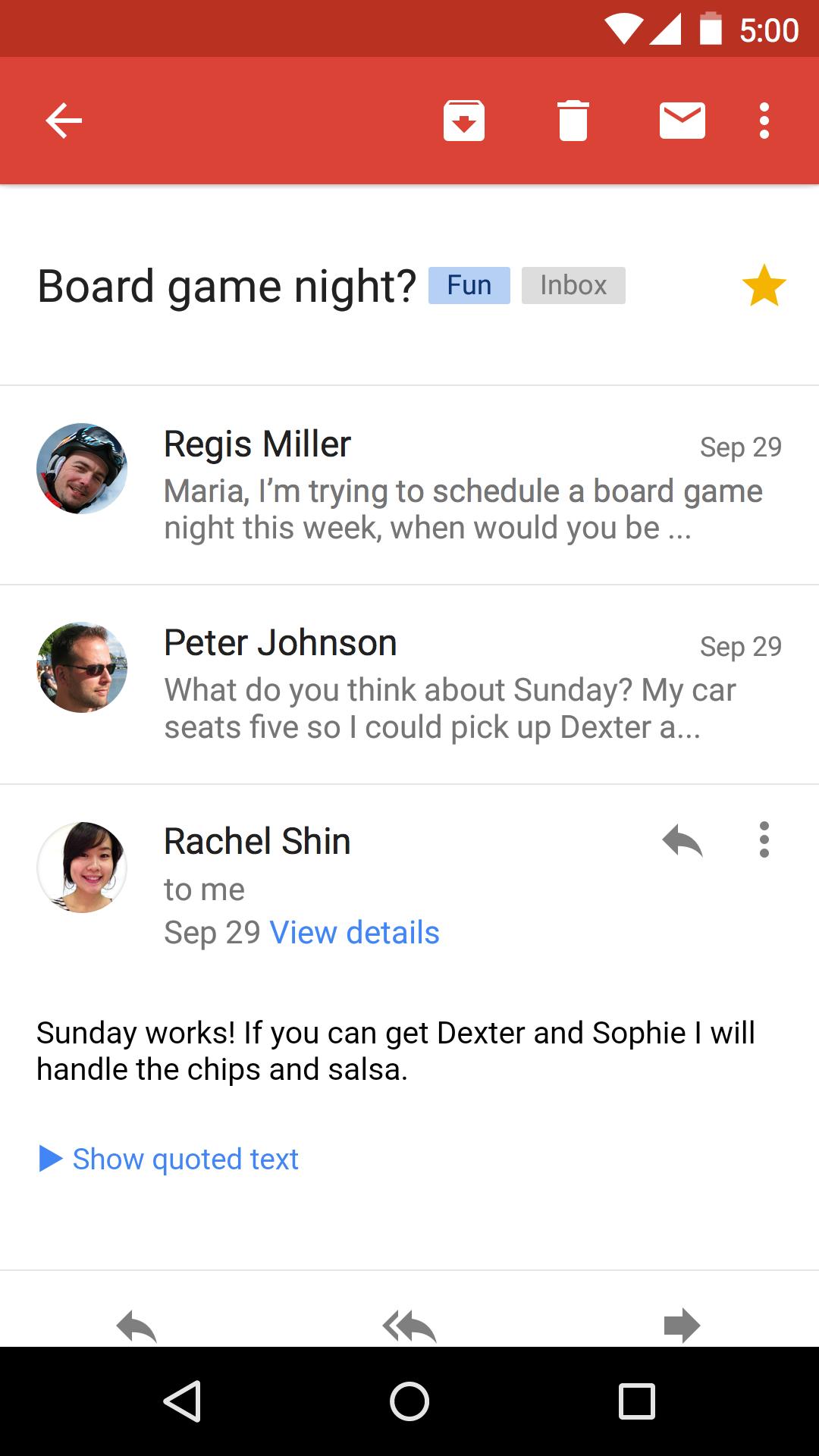 Gmail screenshot #3