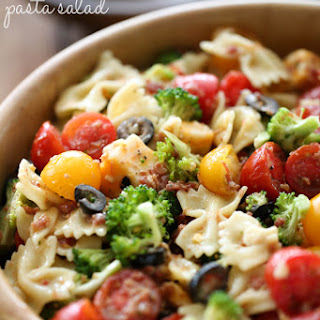 Veggie Bacon Pasta Salad.