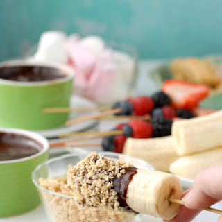 Slow Cooker Individual Creamy Chocolate Fondue Pots.