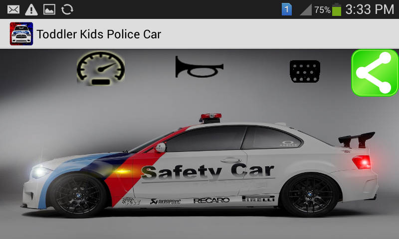 Toddler Cars:Police Toy- screenshot