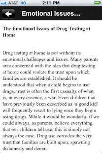 Drug Test Info - screenshot thumbnail