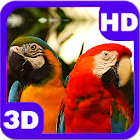 Beautiful Parrots Couple 3D icon