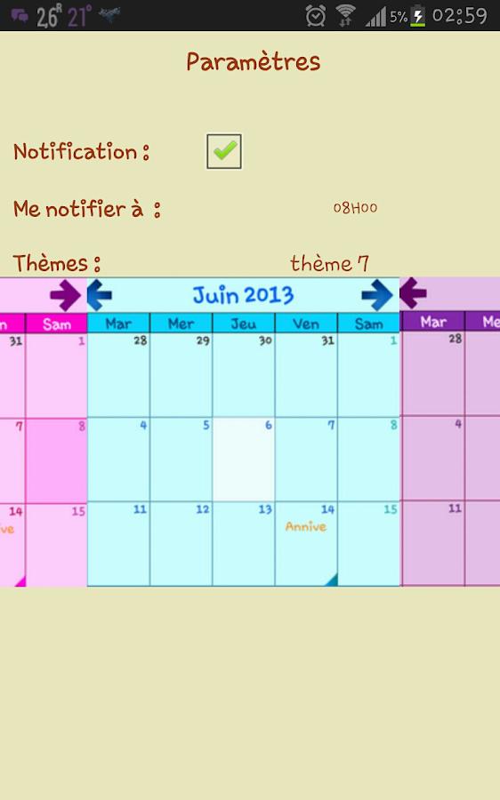 Mon Calendrier Plus - screenshot