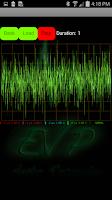 Screenshot of EVP Recorder with detector.