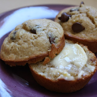 Peanut Butter Chocolate Chip Banana Muffins.