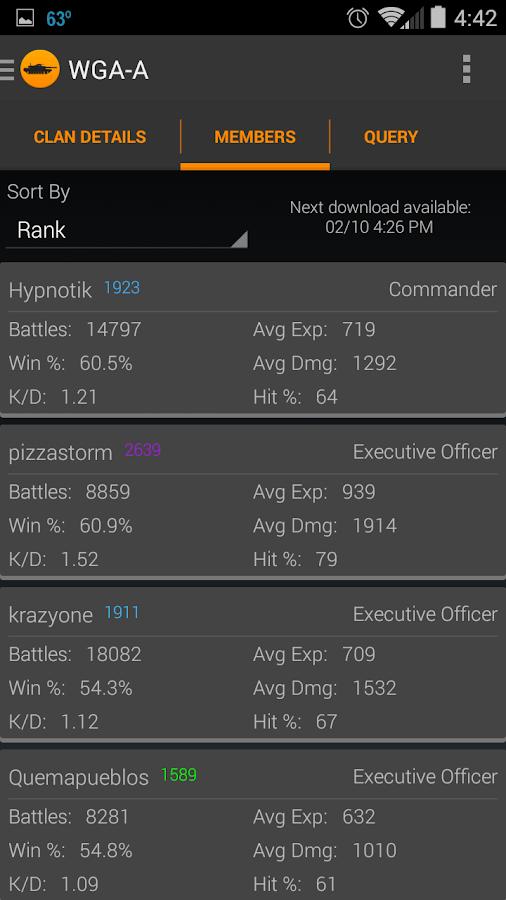 WoT Community Assistant - screenshot