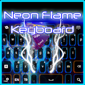 Neon Flame Keyboard
