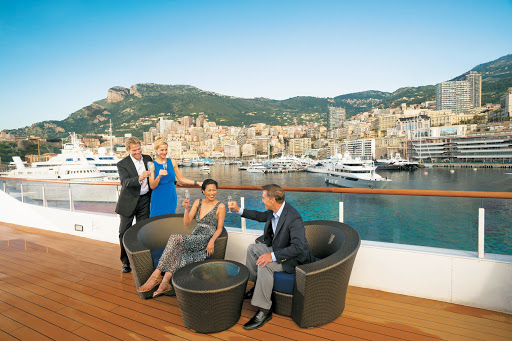 Monte-Carlo-view-from-Tere-Moana - Celebrate your voyage in style with an evening cocktail aboard Tere Moana after taking in Monte Carlo's lavish lifestyle.