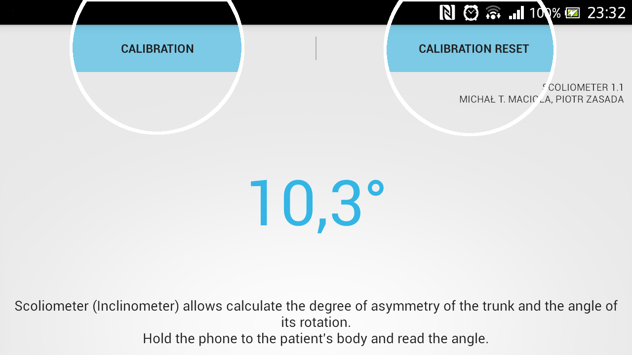 Scoliometer - screenshot