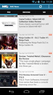 N4G Game News for Android - screenshot thumbnail