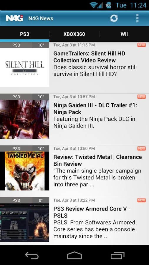 N4G Game News for Android - screenshot