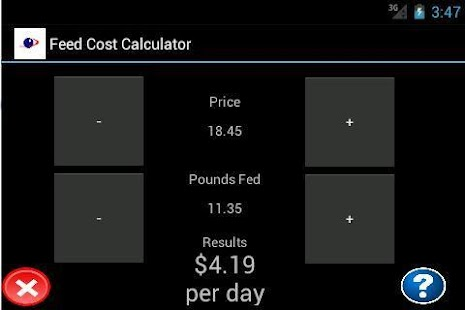 Feed Cost Calculator - screenshot thumbnail