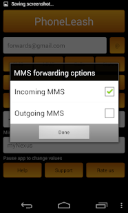 PhoneLeash: SMS/MMS forwarding- screenshot thumbnail