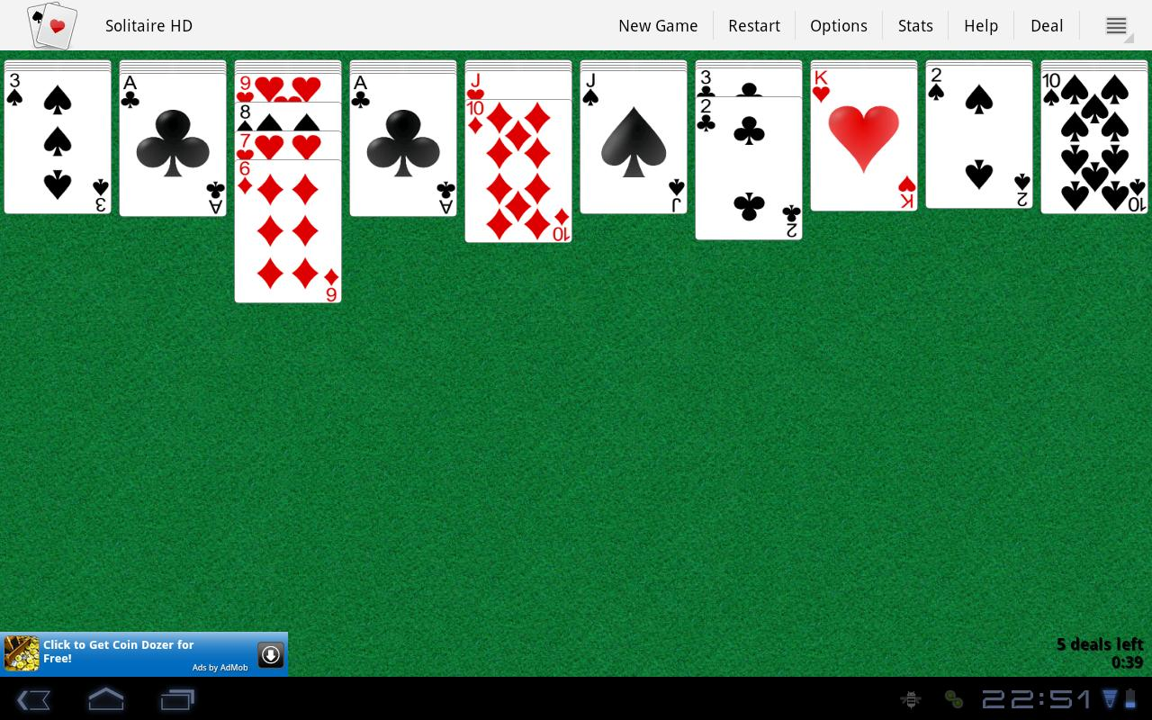 Solitaire HD- screenshot