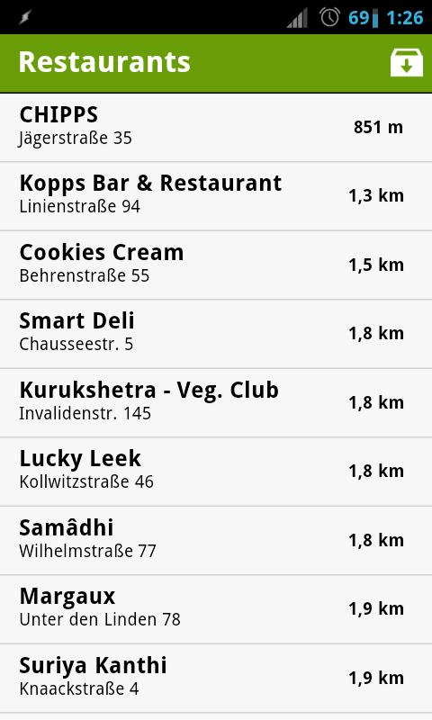 Berlin Vegan Guide - screenshot