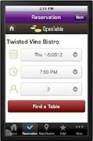 Screenshot of Twisted Vine Bistro