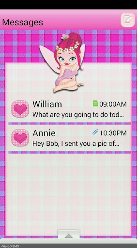 UnicornPixie GO SMS THEME