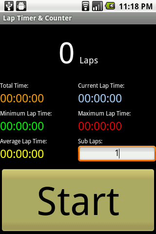 Lap Timer Counter