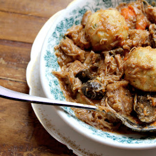 Veal Stew with Potato Dumplings.