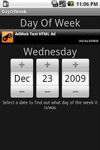Day Of Week- screenshot thumbnail