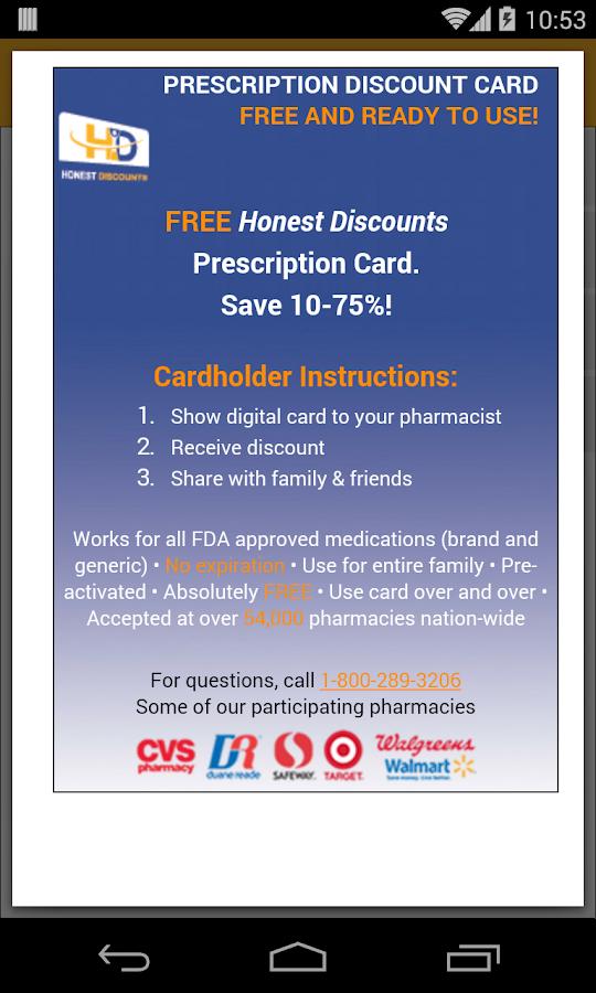 Pharmacy Discounts - screenshot