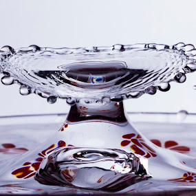 Water drop necklace  by Simon Gilgallon - Digital Art Things ( water, water fountain, water sculpture, water reflection, water drops, waterfalls, water flower, water droplet, water splash, water pearls, drops, water fall, water droplets, collision, water surface )