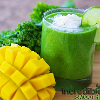 Coconut-Mango-Lime Green Smoothie Recipe with Kale