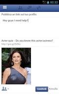 Screenshot of Actor Quiz
