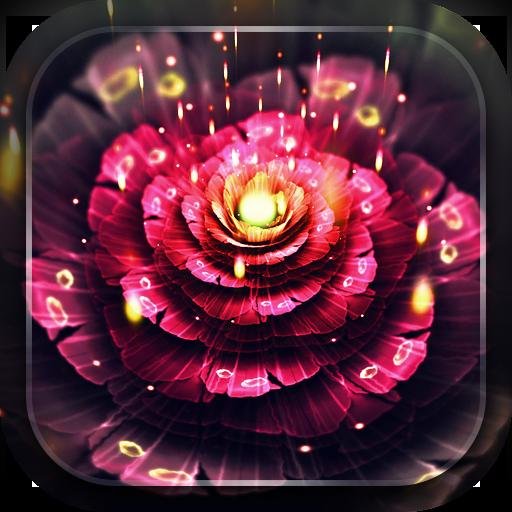 霓虹花朵動態壁紙 個人化 App LOGO-硬是要APP