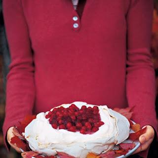 Cranberry and Vanilla Pavlova.