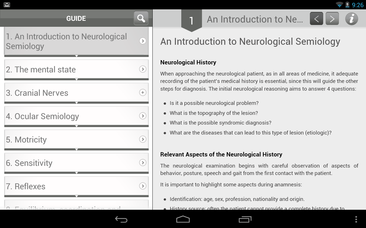 Neuro Exam - screenshot