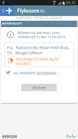 Screenshot of Flybussen Bergen billett