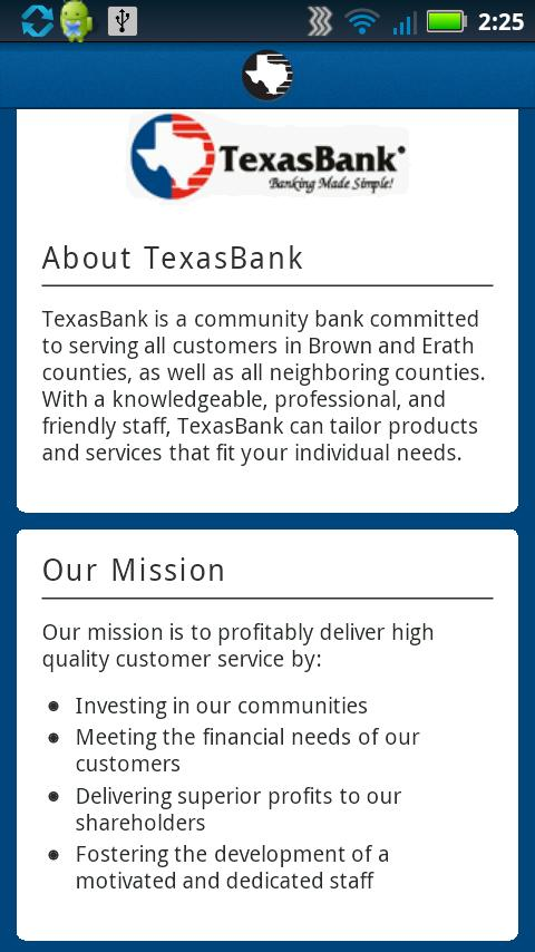 TexasBank - screenshot