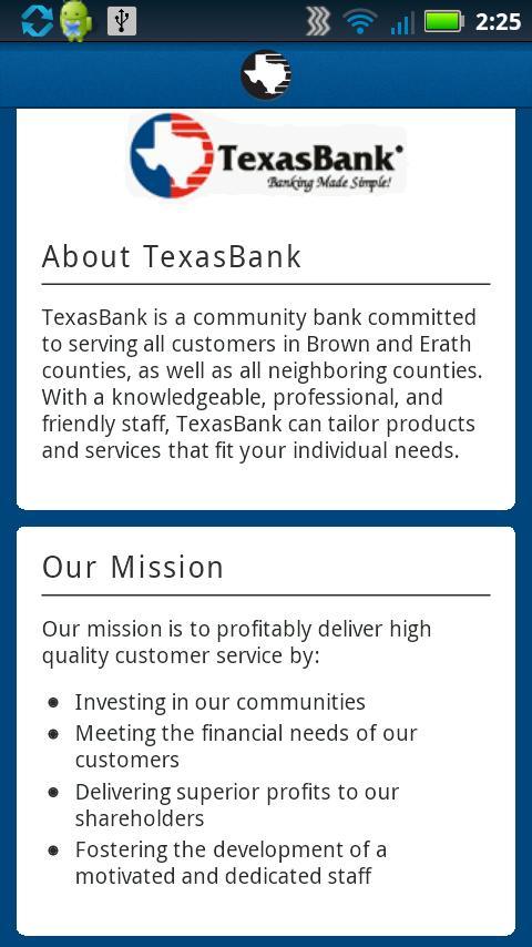 TexasBank - screenshot