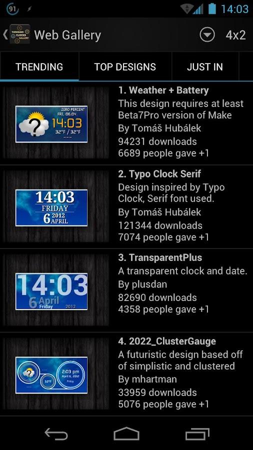 Thousand Clock Widgets - screenshot