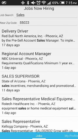 Jobs Now Hiring Screenshot