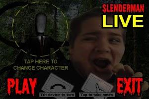Screenshot of SlenderMan LIVE