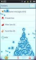 Screenshot of Kawaii Christmas Go Sms Pro